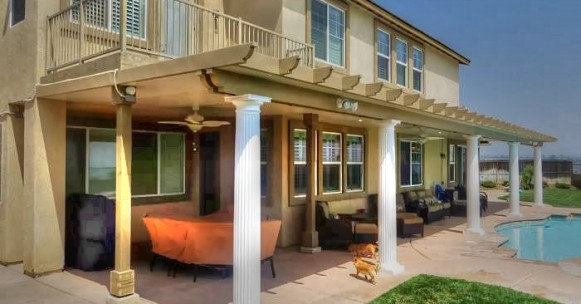 Roman Columns Patio Cover, California